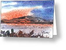 Flathead Lake Montana Greeting Card