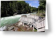 Flathead River Rapids Greeting Card