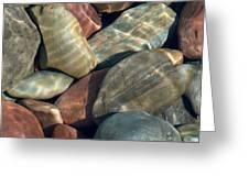 Flathead River Rocks Greeting Card