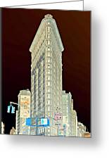 Flatiron Building Inverted Greeting Card