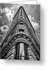 Flatiron Building  Nyc Black And White Greeting Card