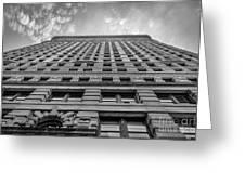 Flatiron Building Sky Black And White Greeting Card