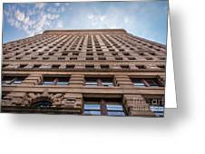 Flatiron Building Sky Color Greeting Card
