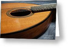 Flatiron Mandolin On Blue Greeting Card