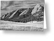 Flatiron Morning Light Boulder Colorado Bw Greeting Card