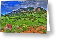Flatirons And Clouds Greeting Card