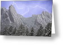 Flatirons Lightning Greeting Card