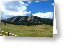 Flatirons Panorama Greeting Card