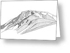 Flattop Mountain Greeting Card