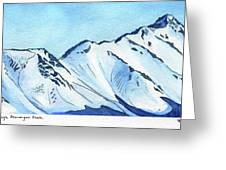 Flattop Through Ptarmigan Peak, Alaska Greeting Card