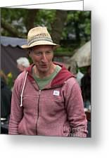 Flea Market Sales Man Greeting Card