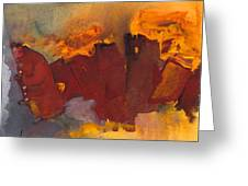 Fleeing The Inferno Greeting Card