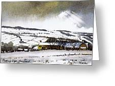 Fleeting Light Stainland Greeting Card