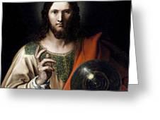 Flemish Salvator Mundi Greeting Card