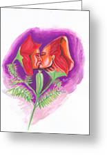 Fleur D'amour Greeting Card