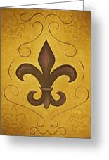 Fleur De Lis II Greeting Card