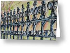 Fleur De Lisrod Iron Fence Greeting Card