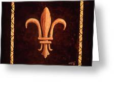 Fleur De Lys-clovis Greeting Card
