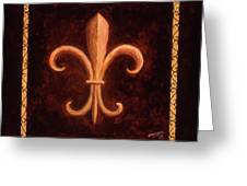 Fleur De Lys-king Louis Vii Greeting Card