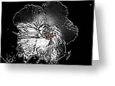 Fleur De Metallica Greeting Card