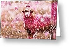 Fleur De Sheep Greeting Card