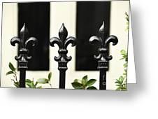 Fleur Di Lis Trio Greeting Card