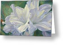 Fleurs Blanches Greeting Card
