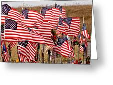 Flight 93 Flags Greeting Card