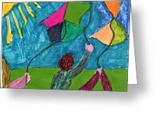 Flight Of Kites Greeting Card