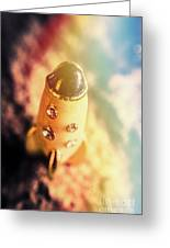 Flight Of Space Fiction Greeting Card