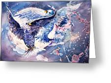 Flight Of The Doves Greeting Card
