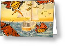 Flight Of The Monarchs Greeting Card