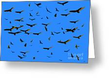 Flight Of The Vultures Greeting Card