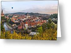 Flight Over The Medieval Town Greeting Card by Dmytro Korol