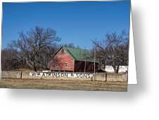 Flint Hills Barn Greeting Card