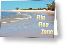 Flip Flop Zone Greeting Card