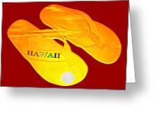 Flip Flops Kona Sunset Greeting Card