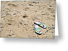 Flipflops Greeting Card