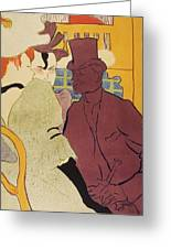 Flirt An Englishman At The Moulin Rouge 1892 Greeting Card