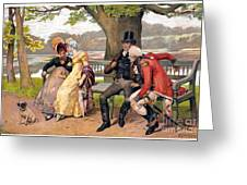 Flirtation, C1810 Greeting Card
