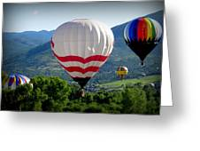 Floatin' In The Rockies 20 Greeting Card