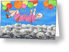 Floating Above Storm Clouds Greeting Card