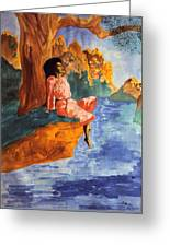 Floating By The River Greeting Card