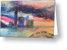 Floating City Greeting Card