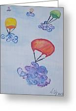 Floating Clouds Greeting Card