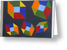 Floating Cubes 2 Greeting Card