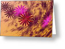Floating Floral - 005 Greeting Card
