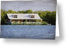 Floating House In La Parguera Puerto Rico Greeting Card
