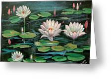 Floating Lillies Greeting Card
