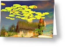 Floating Lily Pond Greeting Card